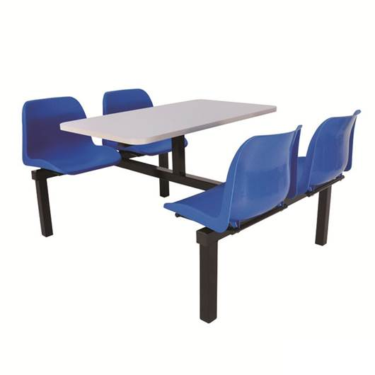 Picture of Canteen Tables with Blue Seats