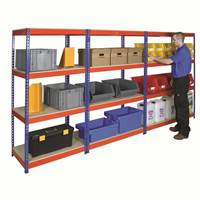 Picture of Heavy Duty Rivet Shelving with Chipboard Shelves
